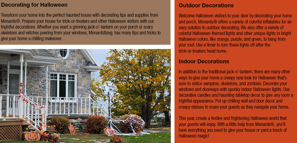 halloween articles at menards - Menards Halloween Decorations