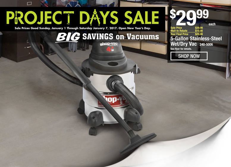 BIG Savings on Vacuums