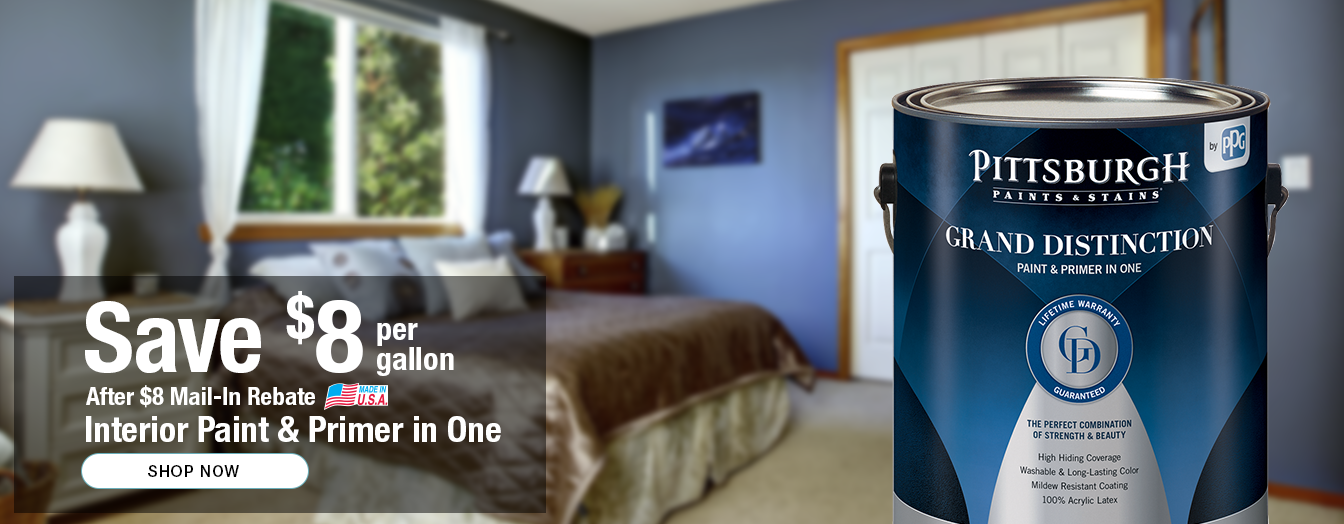 Save 8 Per Gallon After Mail In Rebate On Interior Paint And Primer