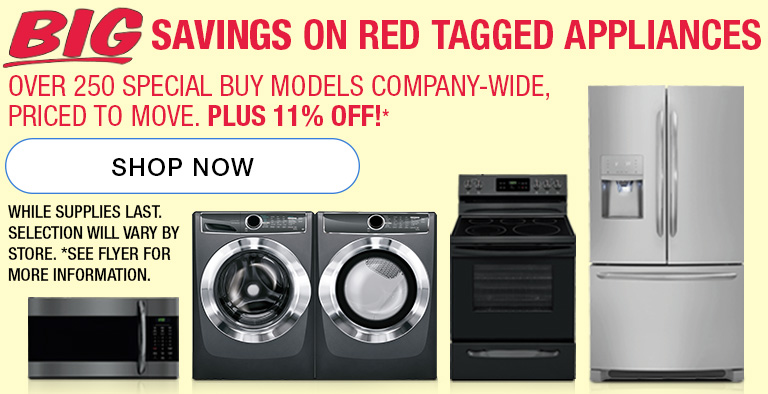 Clearanced Appliances! See flyer for more detail. Shop appliances now.