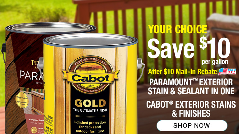 7f1c5657a59b5 Your Choice. Save  10 per gallon after  10 mail-in rebate on Paramount  Exterior