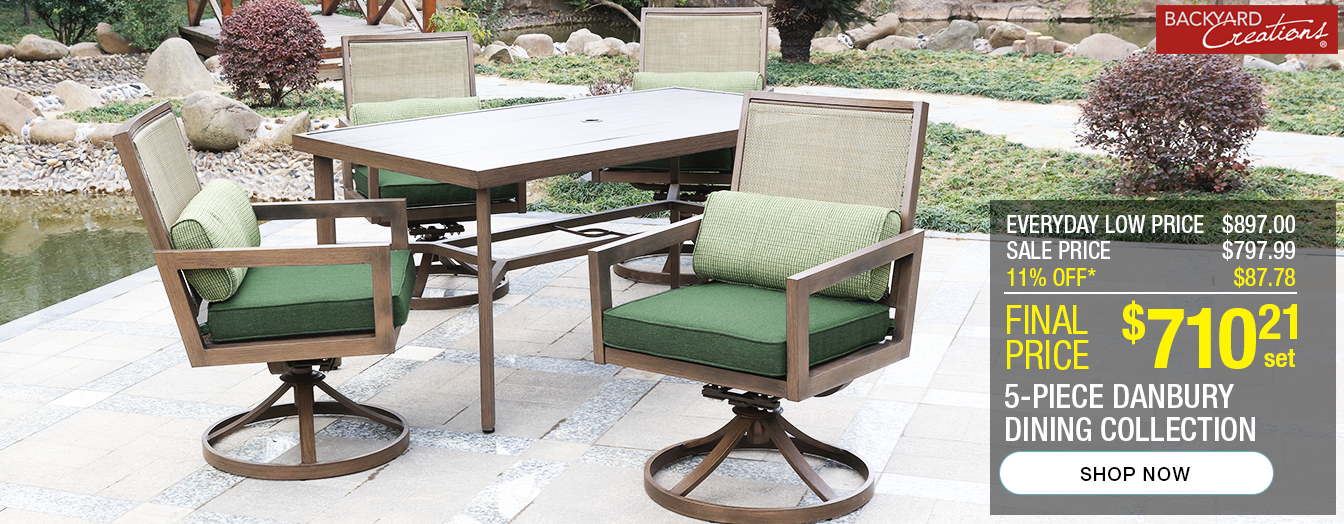 2562dec4287f 5-piece Danbury dining collection. Everyday low price of $897. Sale price of