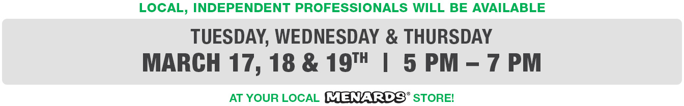 Local Pro Connection Event Tuesday, Wednesday & Thursday, March 17, 18, 19, 2020, 5 - 7pm
