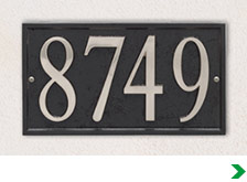 address numbers letters at menards