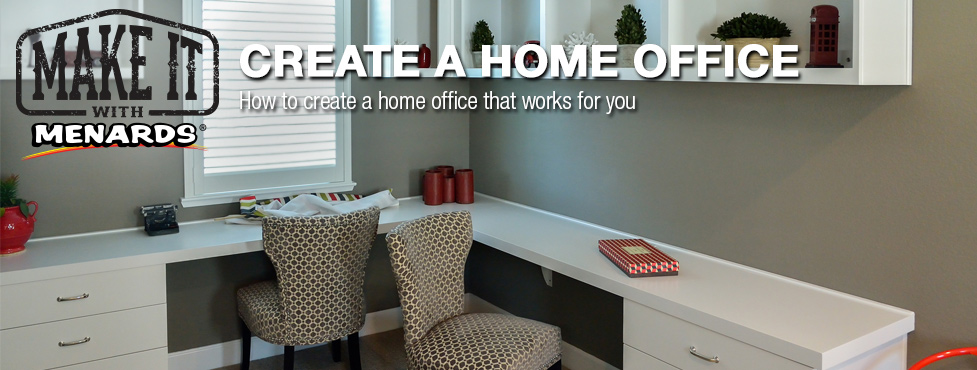 Create A Home Office At MenardsR