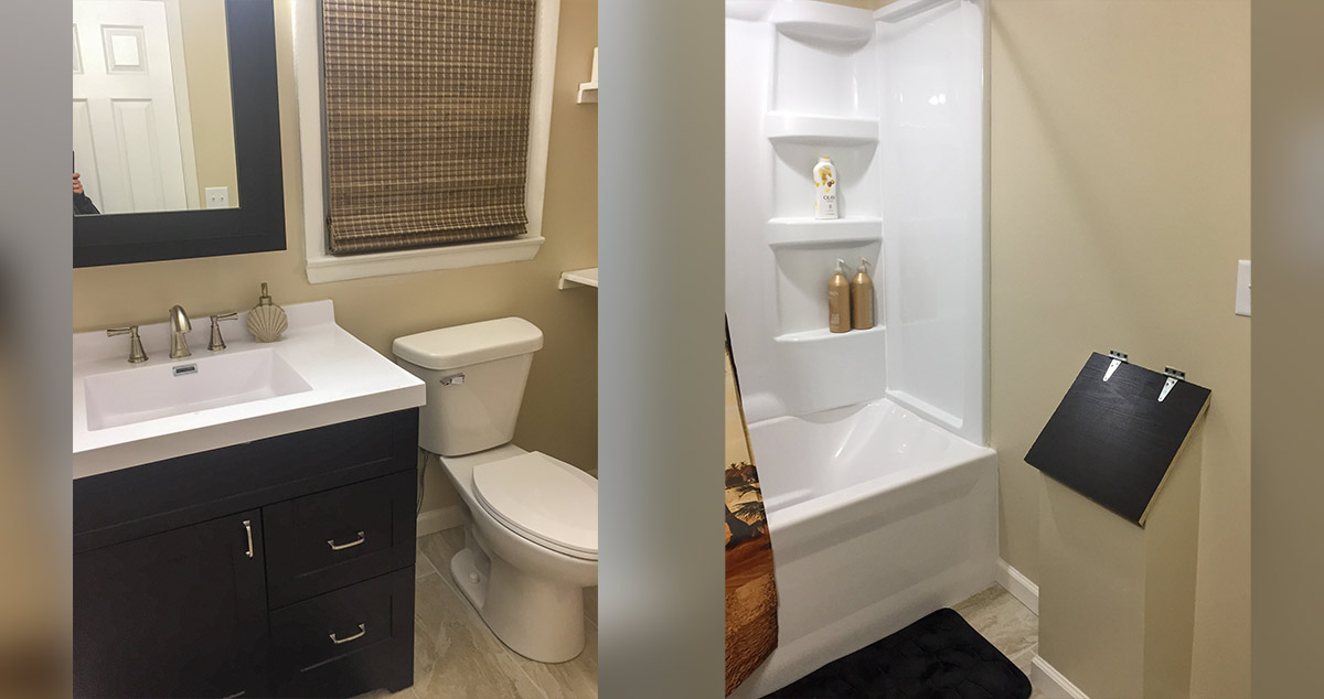 Bathroom Remodel With Laundry Chute Project By Jennifer At Menards