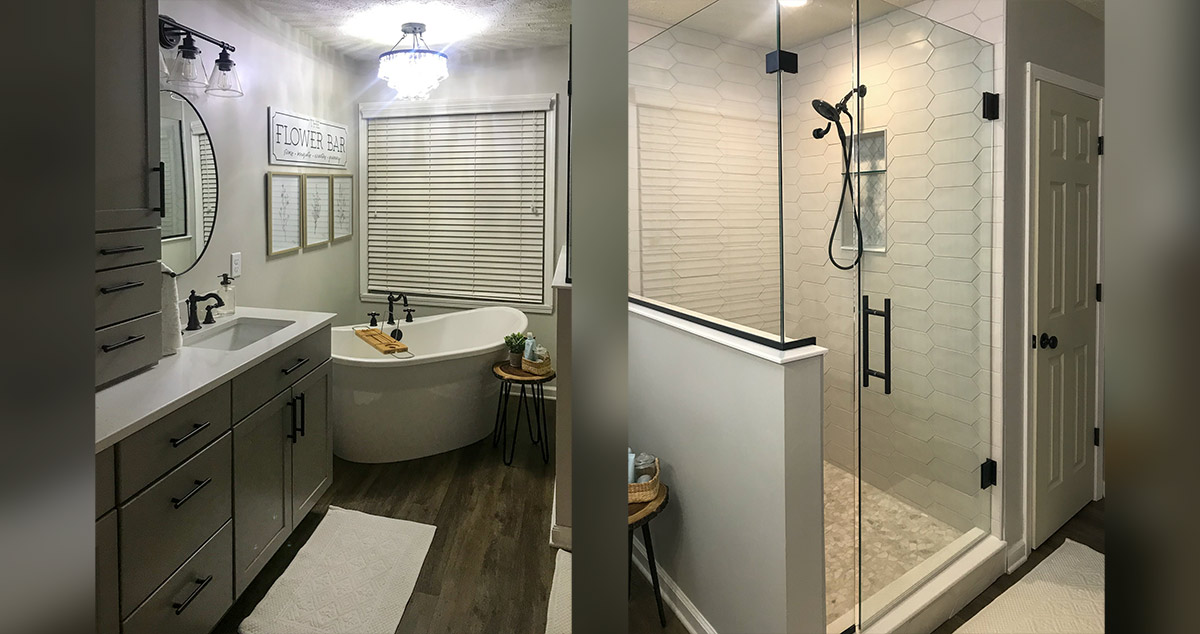 Master Bath Layout Remodel Project By Elise At Menards