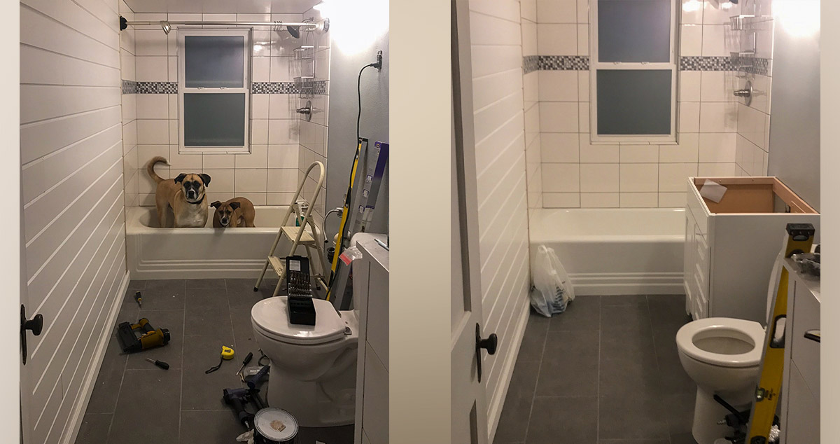 Small Bathroom Remodel Project By Elizabeth At Menards