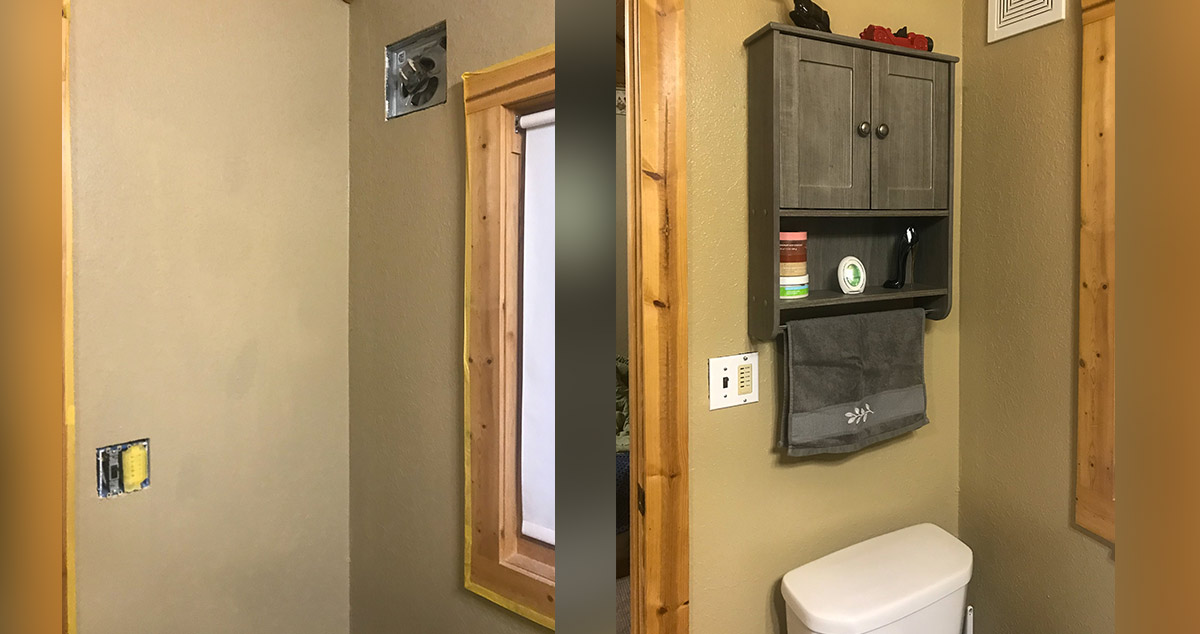 Updated Bathroom Project By Jeff At Menards 174