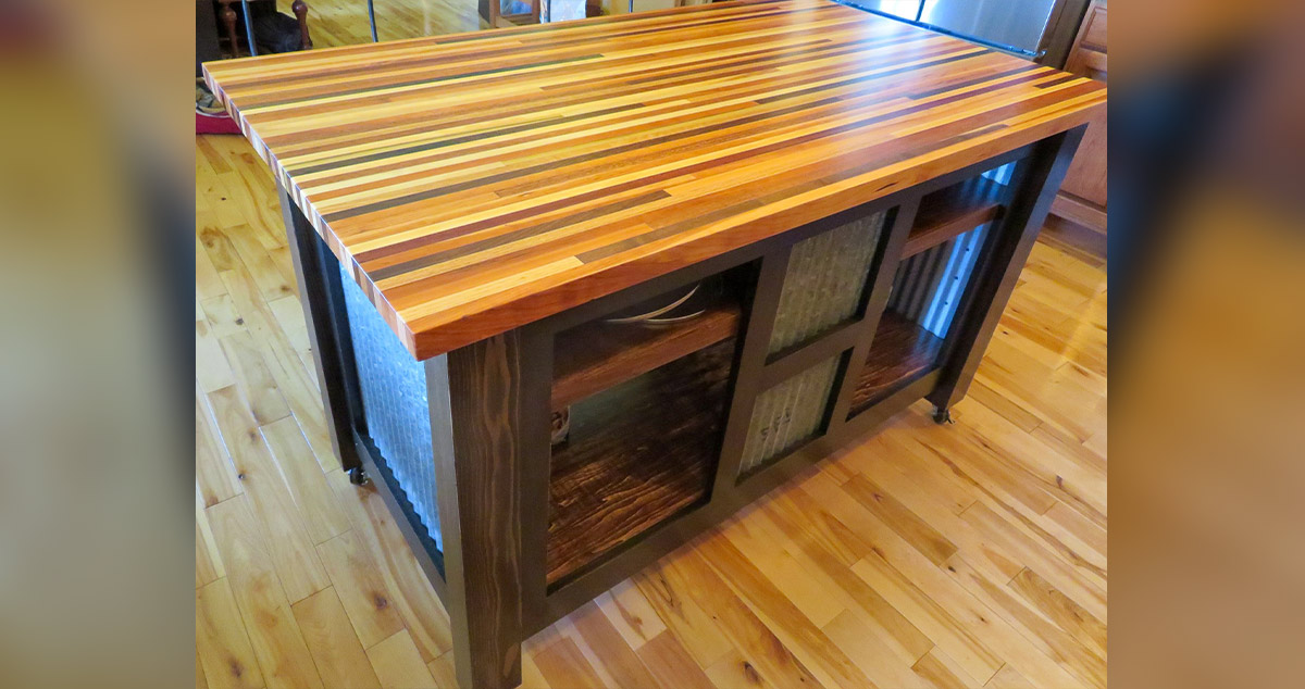 Mobile Kitchen Island Project By Richard At Menards