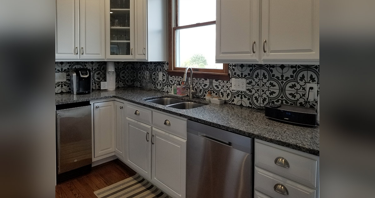 Porcelain Tile Kitchen Backsplash Project By Michelle At
