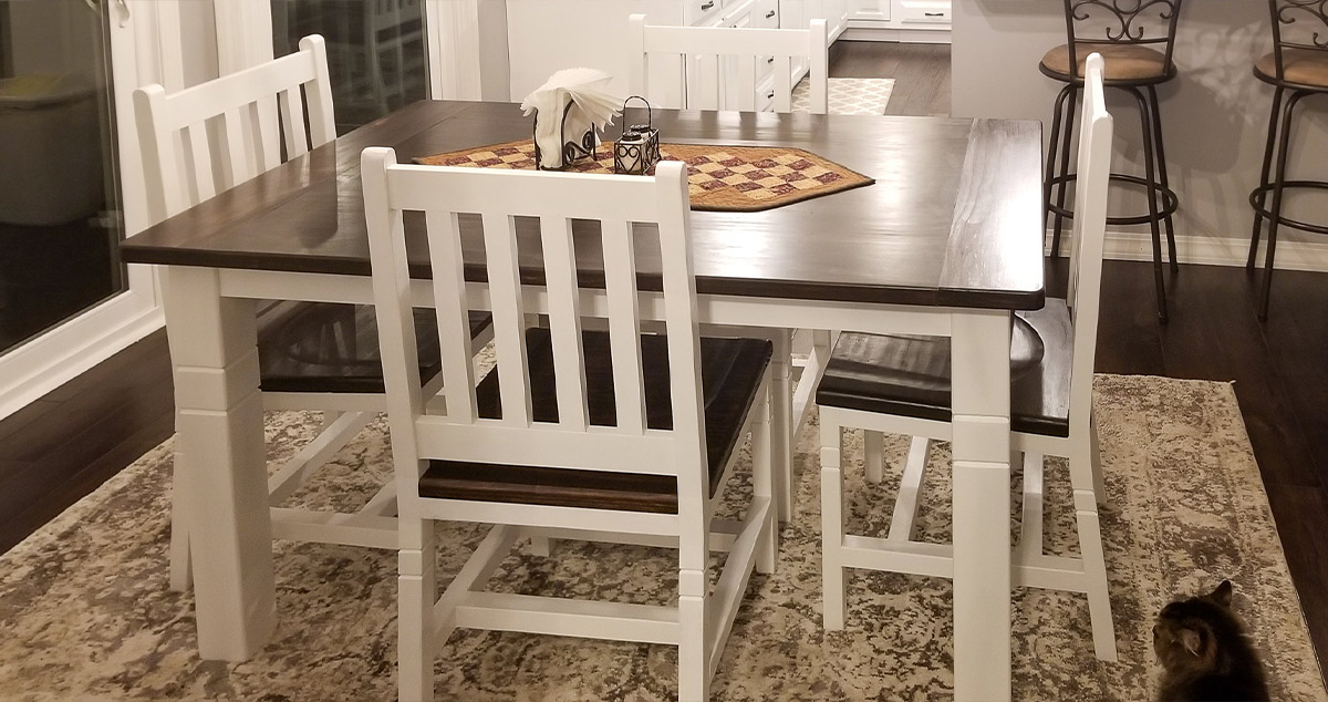 Farmhouse Kitchen Table Chairs Project By William At Menards