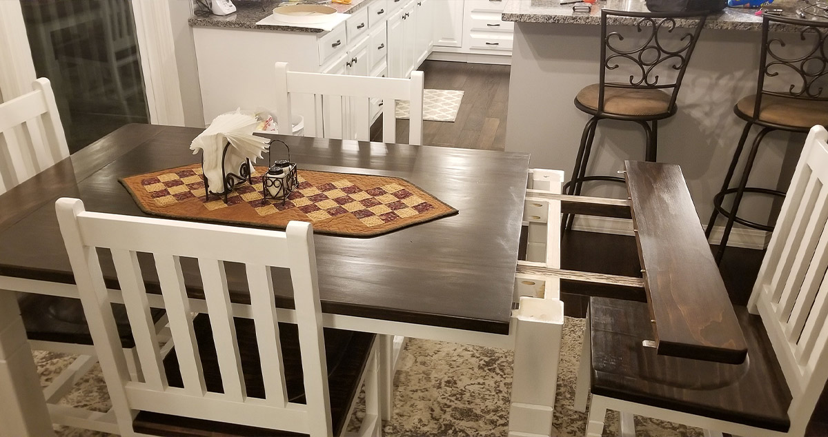 Farmhouse Kitchen Table & Chairs - Project by William at ...