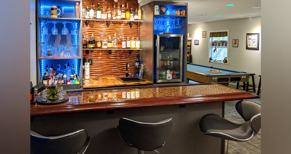 Home Wet Bar - Project by Mike at Menards®