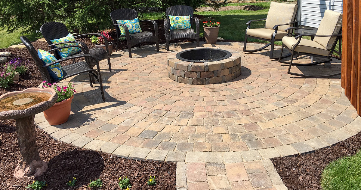 Backyard Fire Pit Patio Project By Barry At Menards