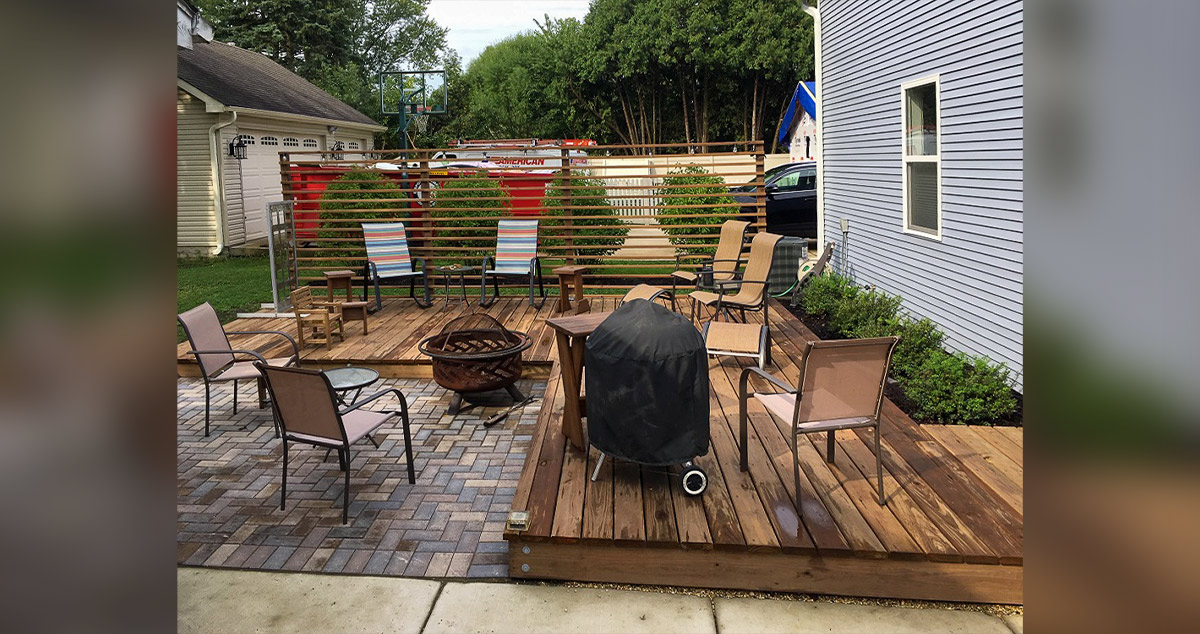 Deck With Privacy Screen Project By Bill At Menards