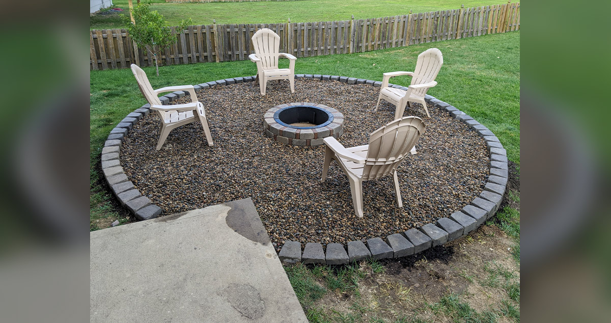 Fire Pit Pad Project By Timothy At Menards