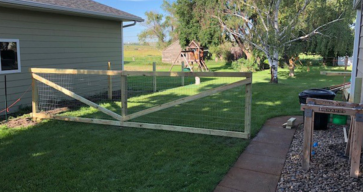 Hog Wire Fence Project By Matthew At Menards