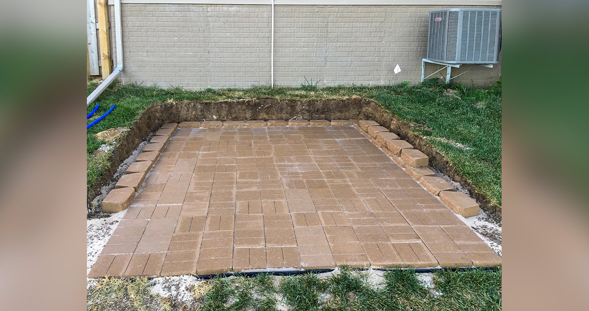 Hot Tub Paver Patio Project By Andrew At Menards
