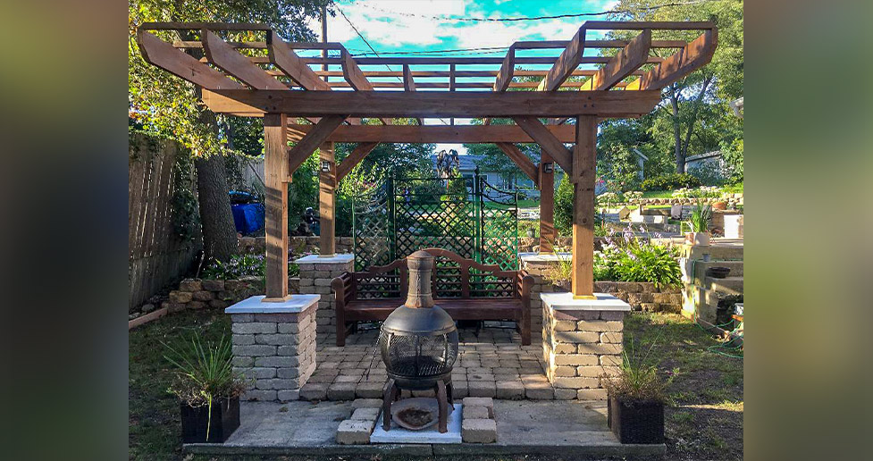 Pergola Chiminea Project By Christopher At Menards