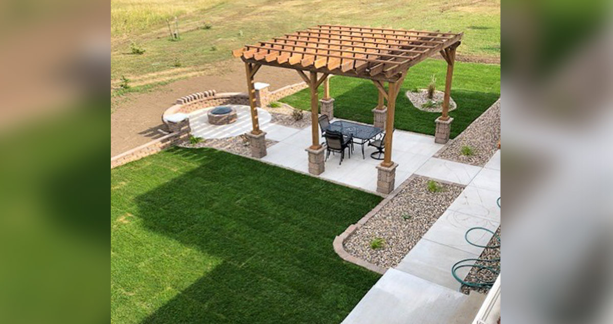 Pergola Fire Pit Project By Richard At Menards