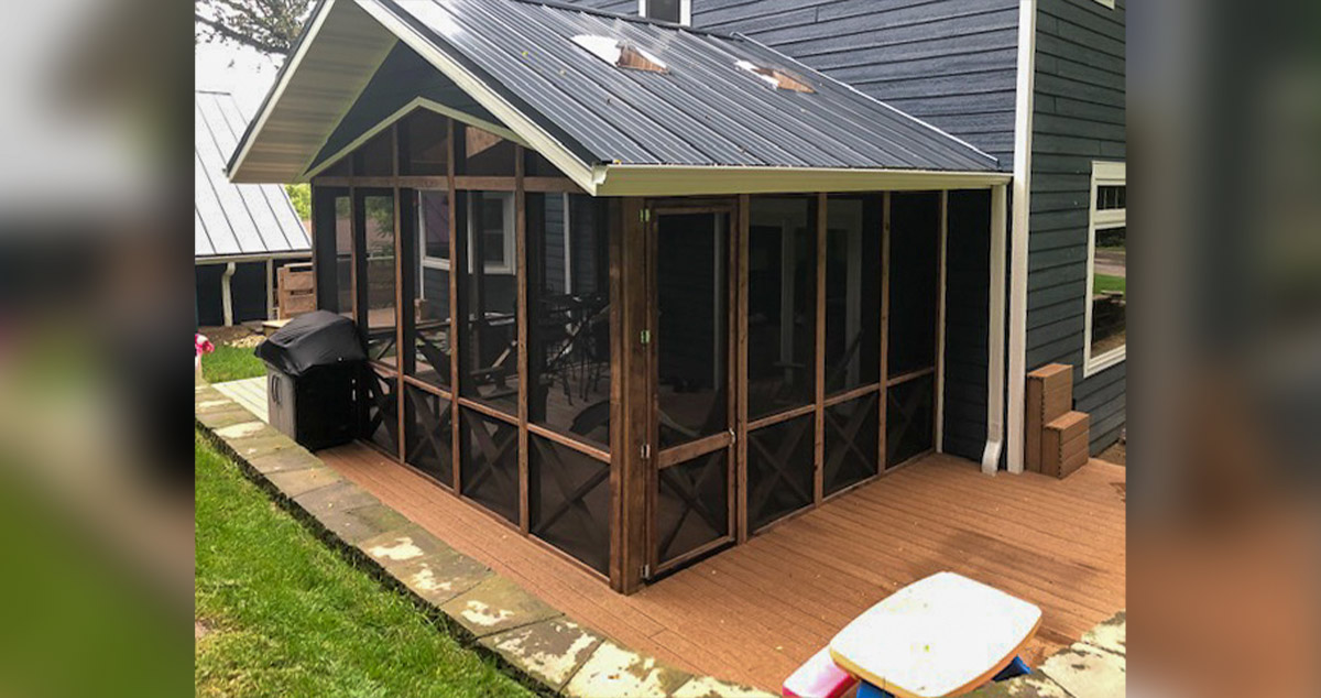 Screen Porch With Wrap Around Deck Project By Beau At Menards