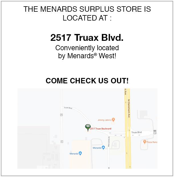 Surplus Store At Menards