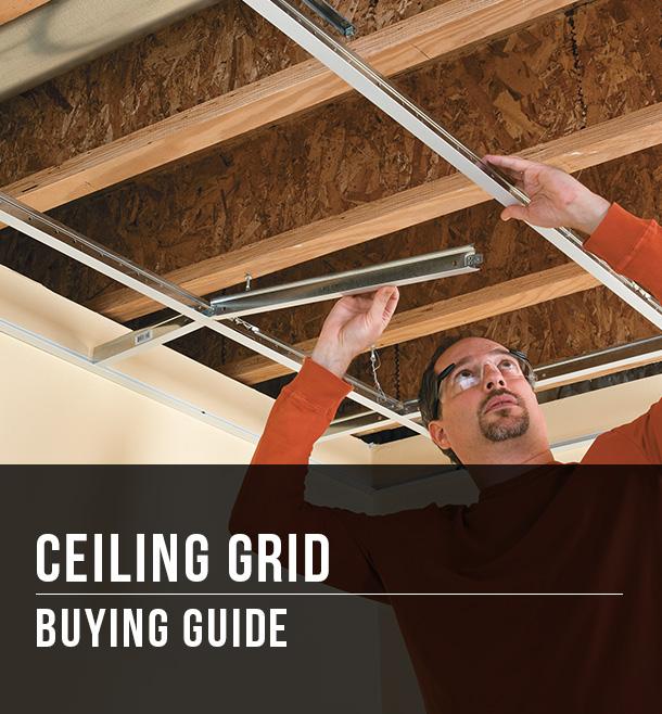 Ceiling Grid Ing Guide At Menards