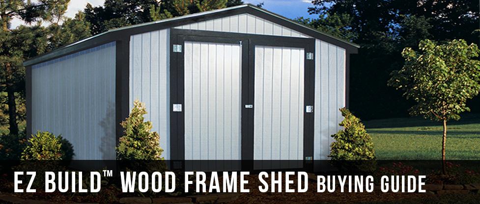 EZ Build Wood Frame Sheds Buying Guide at Menards®