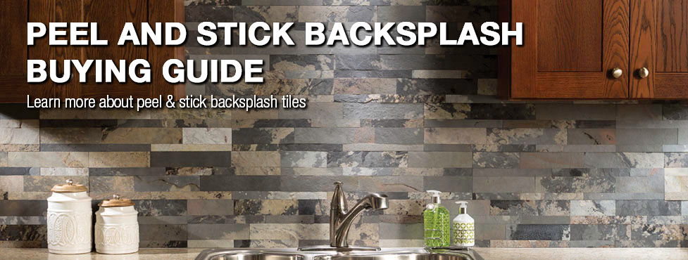 wonderful Peel And Stick Backsplashes For Kitchens Part - 4: Peel u0026 Stick Backsplash Buying Guide at Menards®