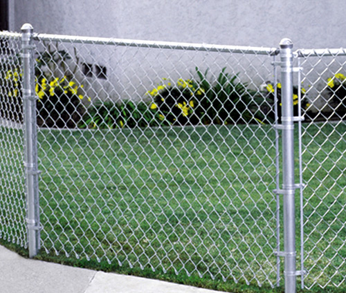installing chain link fence on a slope video