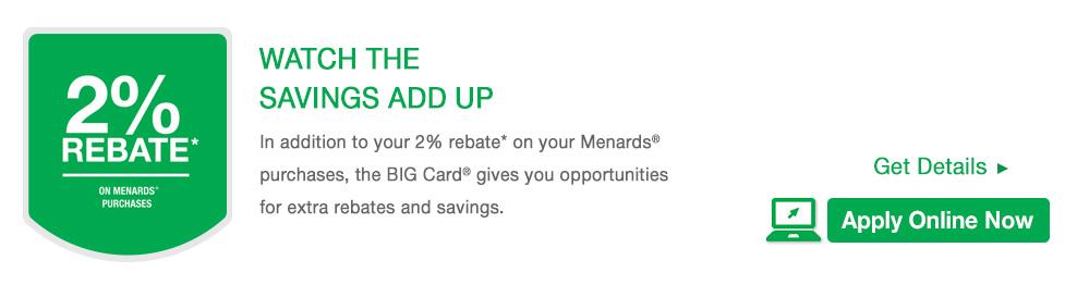 BIG Card® at Menards®