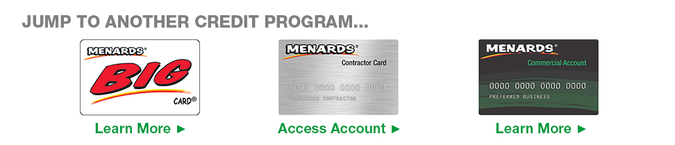 menards commercial card Contractor Card at Menards®