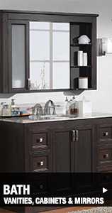Bathroom Vanities, Cabinets & Mirrors