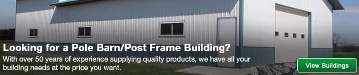 pole barnpost frame materials at menards