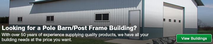 pole barnpost frame materials at menards