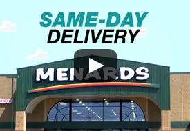 SameDay Delivery Information At Menards - Does menards deliver