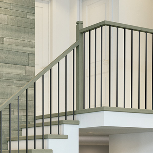 decorative interior stair railing kits ideas for.htm millwork staircase systems   accessories at menards    millwork staircase systems